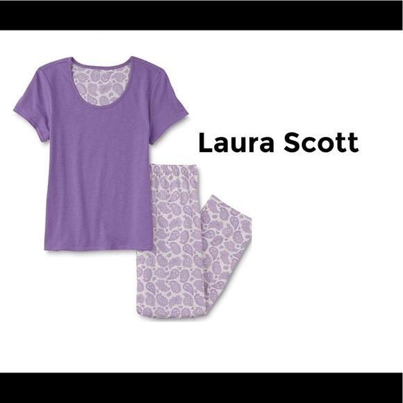 ca3242cb6e 🅿️Laura Scott Women s Paisley Pajama Set XXL